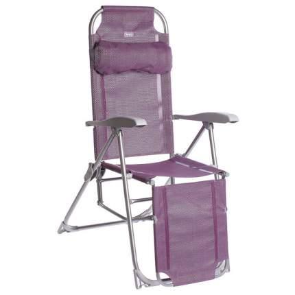 Кресло-шезлонг НИКА 3 складное с подножкой КШ3 Баклажан