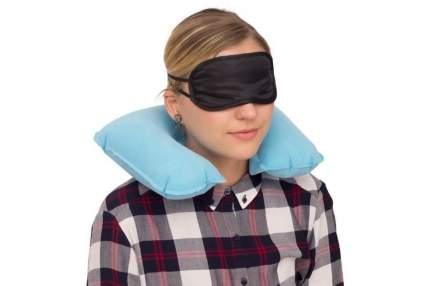 Дорожный набор Verona Pillow, 3 предмета, голубой