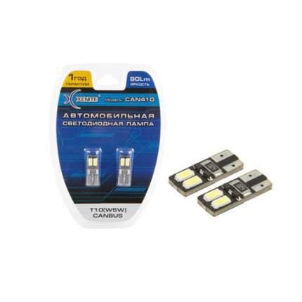 Лампа светодиодная 12V W5W T10W W2.1х9.5d ббесцокольная листер (2шт.) XENITE
