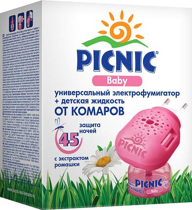 Прибор+жидкость от комаров Picnic 10734 Арнест Baby 45 ночей