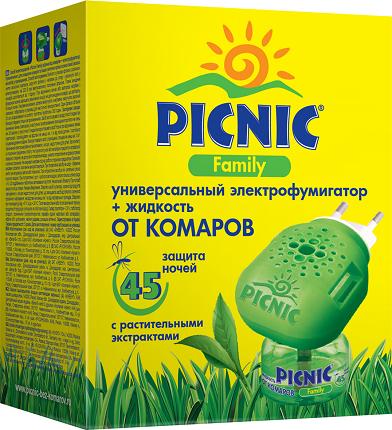 Прибор+жидкость от комаров Picnic 10729 Арнест Family 45 ночей