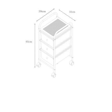 Этажерка My Space G003, с 3-мя пластиковыми ящиками, 39х33х65 см