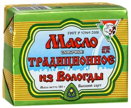 Масло из вологды традиционное  сливочное 82.5 % 180 г