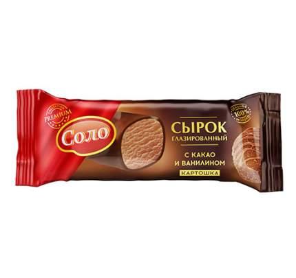 Сырок соло картошка глазированный в шок/глазури бзмж жир. 23 % 40 г ф/п кмп россия