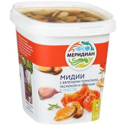 Мидии Меридиан в масле с вялеными томатами, чесноком 415 г