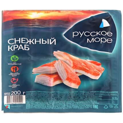Крабовые палочки Русское море снежный краб охлажденные 200 г