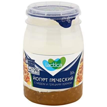Йогурт лактика греческий бзмж мед/грецкий орех жир. 3 % 190 г пл/б лактис россия
