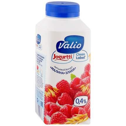 Йогурт Valio питьевой малина и злаки 0.4 % 330 г