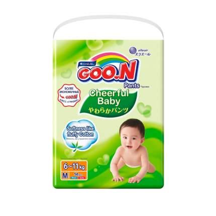 Подгузники-трусики GOO.N Cheerful Baby M (6-11 кг), 54 шт.