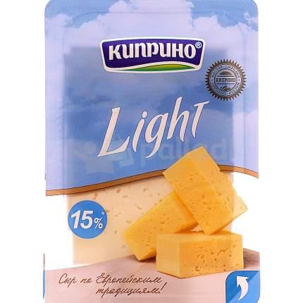 Сыр киприно лайт слайсерная нарезка бзмж жир. 15 % 125 г кипринский мз россия