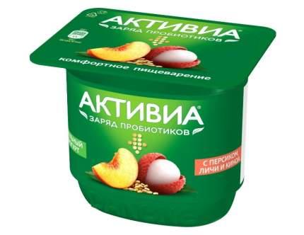 Биойогурт активиа бзмж персик/личи/киноа жир. 2,9 % 150 г пл/ст данон россия