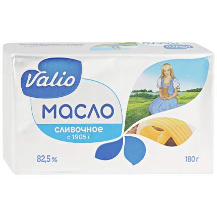 Масло Valio кислосливочное 82.5% 180 г