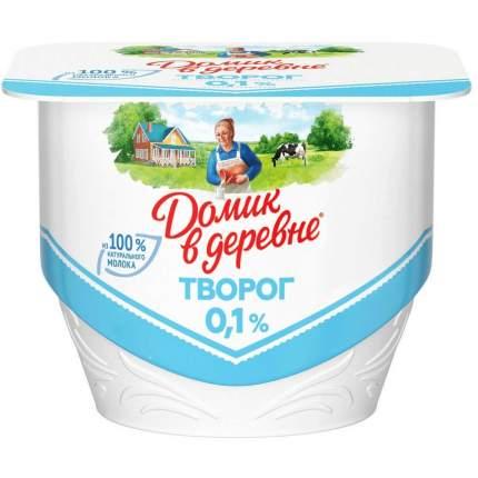 Творог домик в деревне обезжиренный бзмж жир. 0,1 % 170 г пл/ванна вбд россия