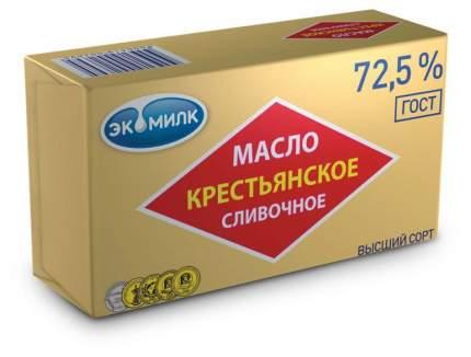 Масло экомилк крестьянское сладко-сливочное  несоленое 72.5 % 450 г
