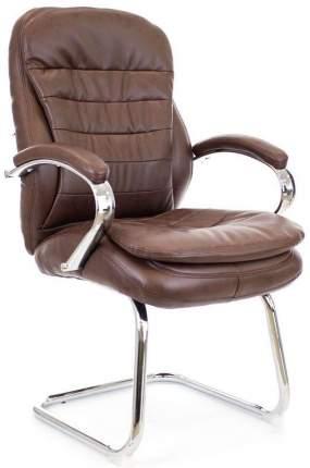 Офисный стул Everprof Valencia CF EP-valencia CF PU, серый/коричневый