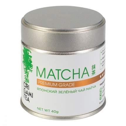Японский зеленый чай Origami Tea Matcha Premium Grade порошковый 40 г