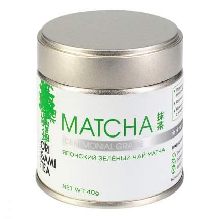 Японский зеленый чай Origami Tea Matcha Ceremonial Grade порошковый 40 г