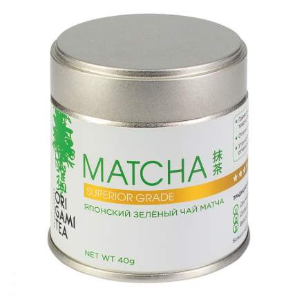 Японский зеленый чай Origami Tea Matcha Superior Grade порошковый 40 г