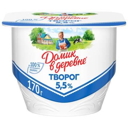Творог домик в деревне бзмж жир. 5,5 % 170 г пл/ванна вбд россия