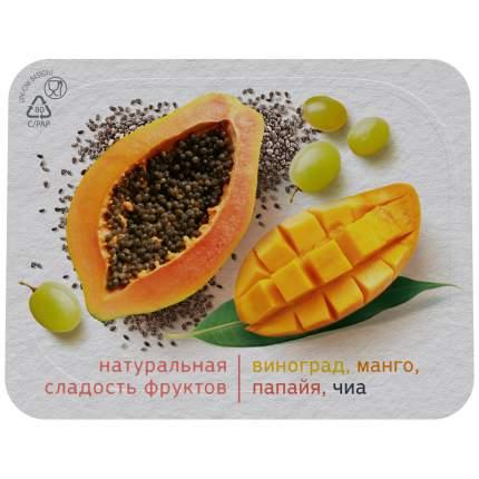 Биойогурт активия  виноград/манго/папайя/чиа 2,9 % б/сахара 150 г