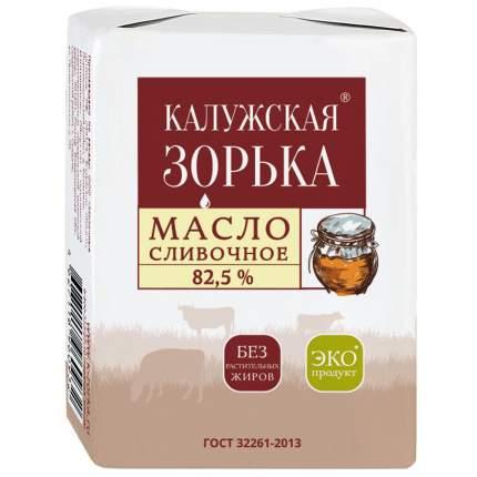 Масло Калужская зорька сливочное 82.5% 180 г