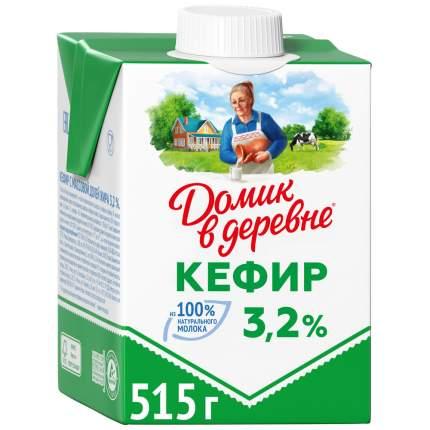 КЕФИР ДОМИК В ДЕРЕВНЕ БЗМЖ ЖИР. 3.2 % 515 Г К/К ВБД РОССИЯ