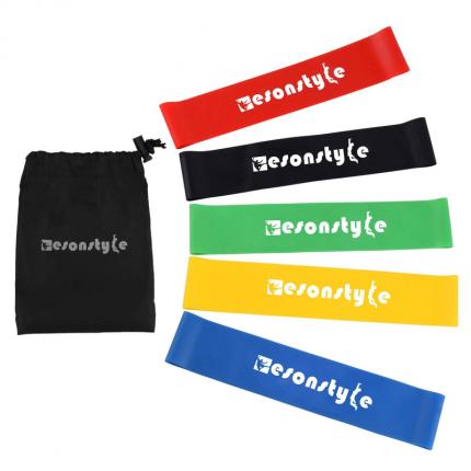 Набор эспандеров EasonStyle желтый/зеленый/красный/синий/черный, 5 шт.