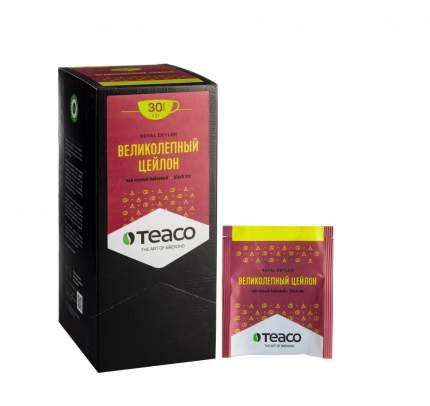 Чай Teaco великолепный цейлон черный 30 пакетиков