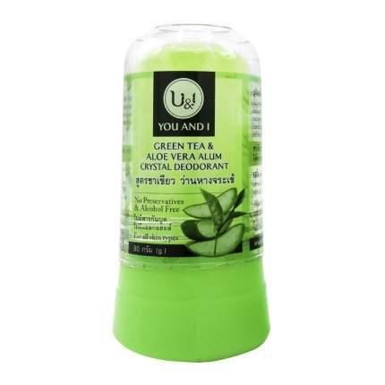 Дезодорант кристаллический с зеленым чаем и алоэ вера 80 г