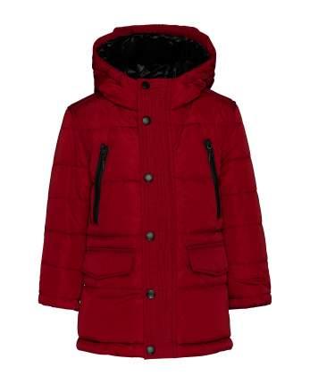 Пальто для мальчиков Gulliver, цв. красный, р.98