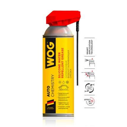 Силиконовая водоотталкивающая смазка WOG WGC0311 с проф. распылителем 2 в 1 , 335 мл