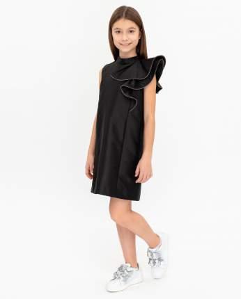 Платье для девочек Gulliver, цв. черный, р.140