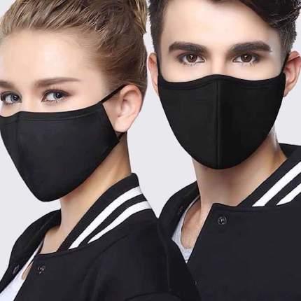 Многоразовая защитная маска NPMCW 3B черная 3 шт.