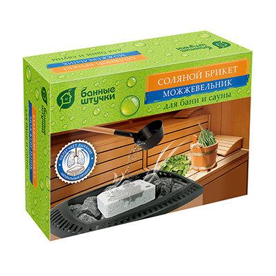 Соляной брикет с травами Банные Штучки 32256 Можжевельник 1300 г