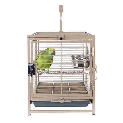 Клетка-переноска для птиц Sky Rainforest Travellor, бежевая, 38х48х63 см