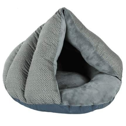 Домик для кошек и собак Не Один Дома Оксфорд, серый, S, 41x31х20 см