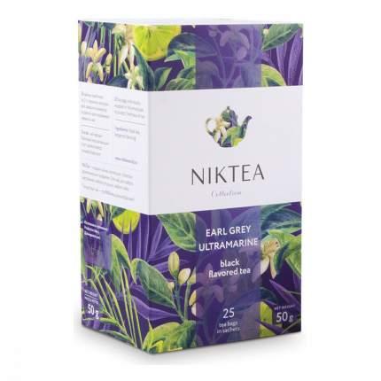 Чай Niktea Earl Grey Ultramarine черный с бергамотом 25 пакетиков