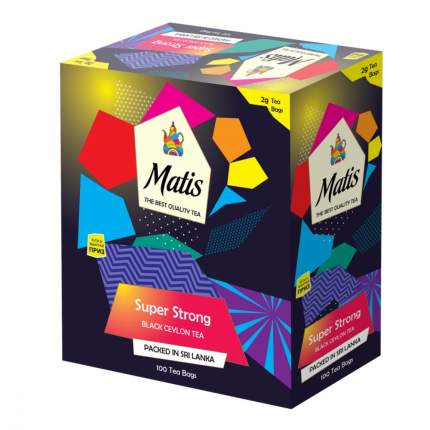 Чай Matis особо крепкий черный 100 пакетиков