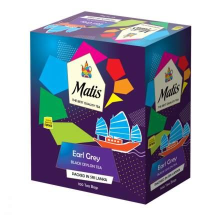 Чай Matis бергамот черный ароматизированный 100 пакетиков