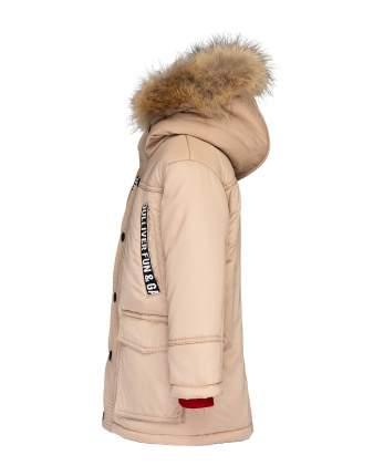 Пальто для мальчиков Gulliver, цв. бежевый, р.98
