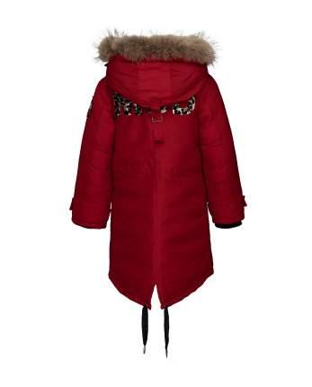 Пальто для девочек Gulliver, цв. красный, р.146