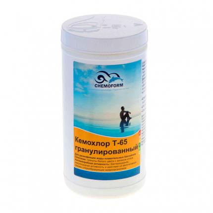 Дезинфицирующее средство для бассейна Chemoform Кемохлор Т-65 501001 1 кг