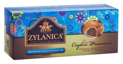 Чай Zylanica Ceylon Premium черный байховый с лимоном 25 пакетиков