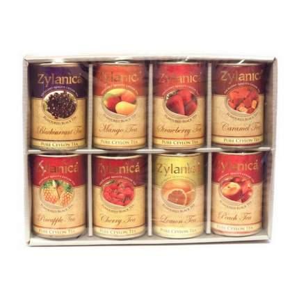 Набор черного чая Zylanica Flavoured Black Tea с фруктовыми добавками 8 видов 240 г