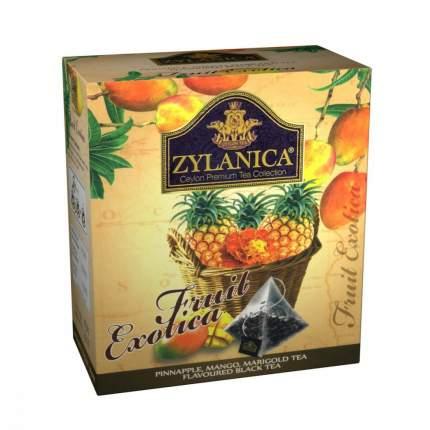 Чай Zylanica Fruit Exotica черный с ананасом манго лепестками календулы 20 пирамидок