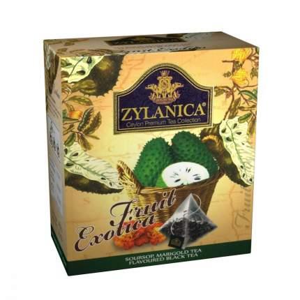 Чай Zylanica Fruit Exotica черный с саусепом и лепестками календулы 20 пирамидок