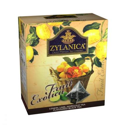 Чай Zylanica Fruit Exotica черный с лимоном лаймом лепестками календулы 20 пирамидок