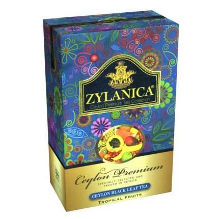 Чай Zylanica Ceylon Premium Tropical Fruits черный листовой с кусочками фруктов 100 г
