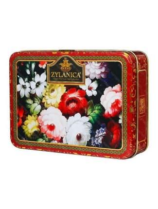 Чай Zylanica Red Super Pekoe шкатулка с цветами черный листовой 100 г