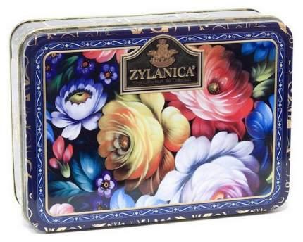 Чай Zylanica Blue шкатулка с цветами черный листовой Super Pekoe 100 г